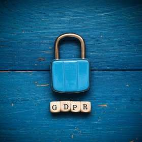 GDPR image with a padlock