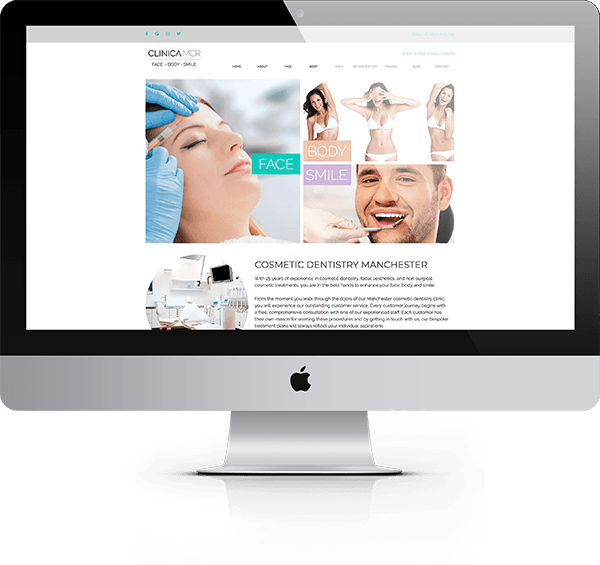 clinica desktop website