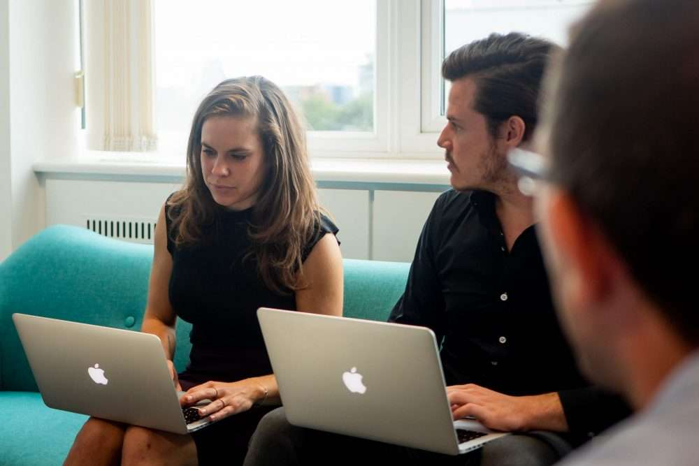 Charlotte and Ross planning content marketing strategy