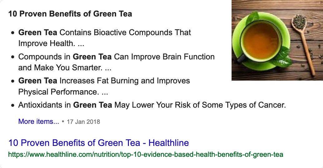 top benefits of drinking green tea - Google Search FS