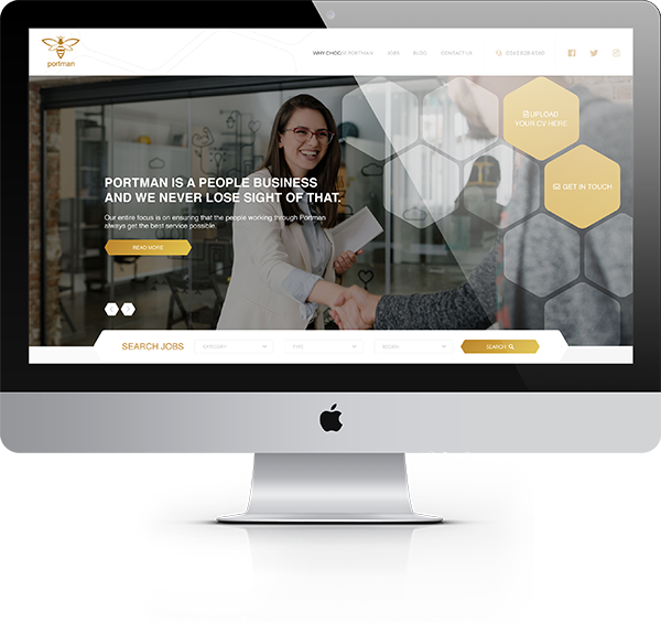 Portman Recruitment New Website by Embryo Digital