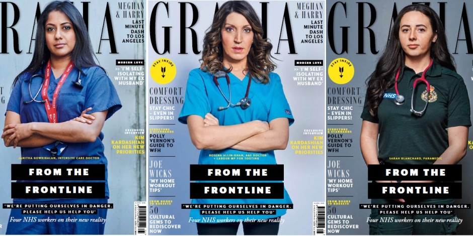grazia magazine covers