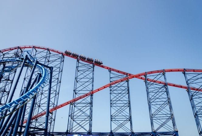 Blackpool Pleasure Beach Rollercoaster