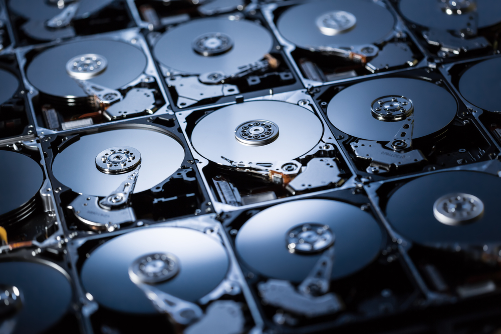 Collection of hard disk drives