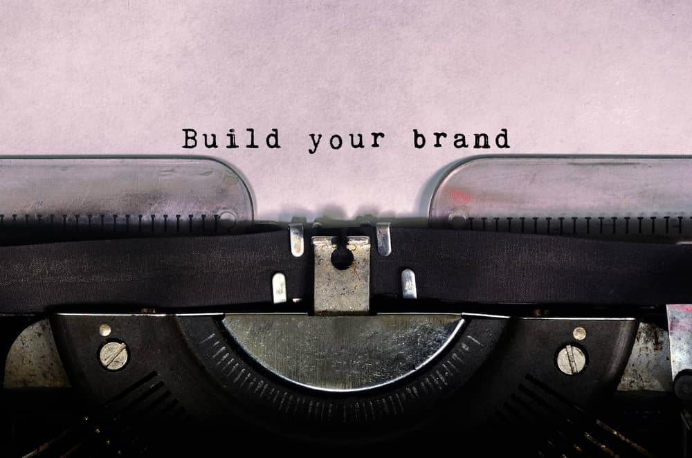 build your brand typed on a vintage typewriter 1