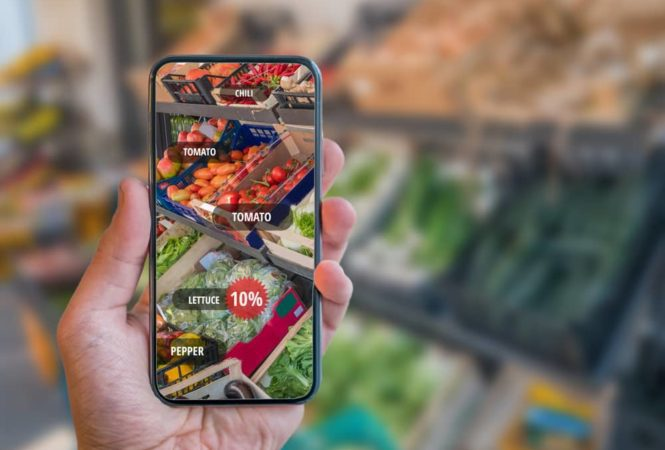 smartphone augmented reality supermarket