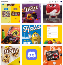 m&ms halloween instagram feed this year